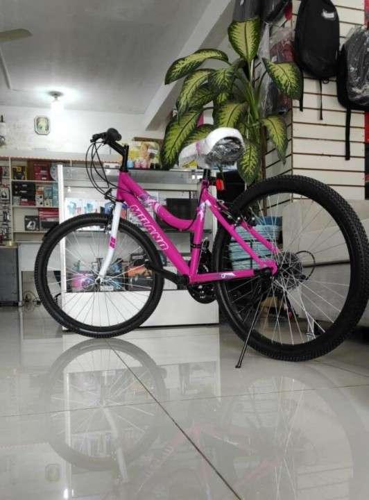 Bicicleta Milano Action aro 24 para dama rosado (3913) - 0