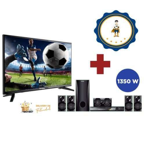 Televisor 55'' LED Smart 4K + Home Theather 1350 Watts. Speed - 0