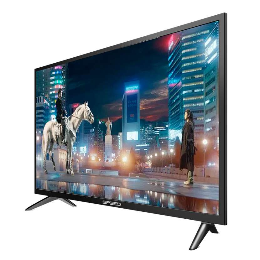 "Speed tv 32"" led smart hdmi/vga/usb c/sint digi / sist-linux - 0"