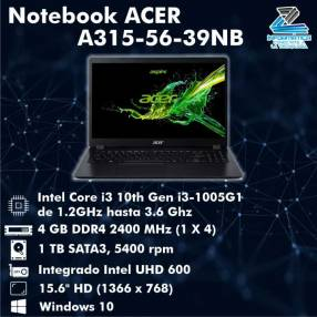 Notebook acer A315-56-39NB