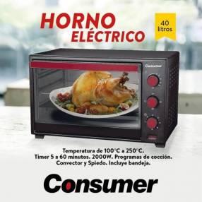 Horno eléctrico 40 litros Consumer (3741)