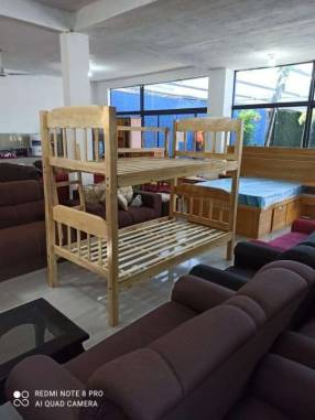Cama de 2 pisos 100x190 de madera