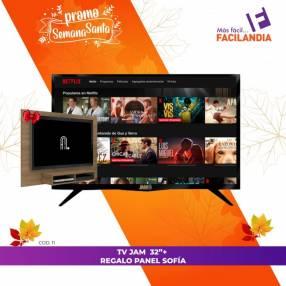 Smart tv HD Jam 32 pulgadas y panel Sofía