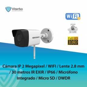 Cámara Bullet IP 2 Megapíxel WIFI con micrófono