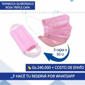 Tapabocas Rosa