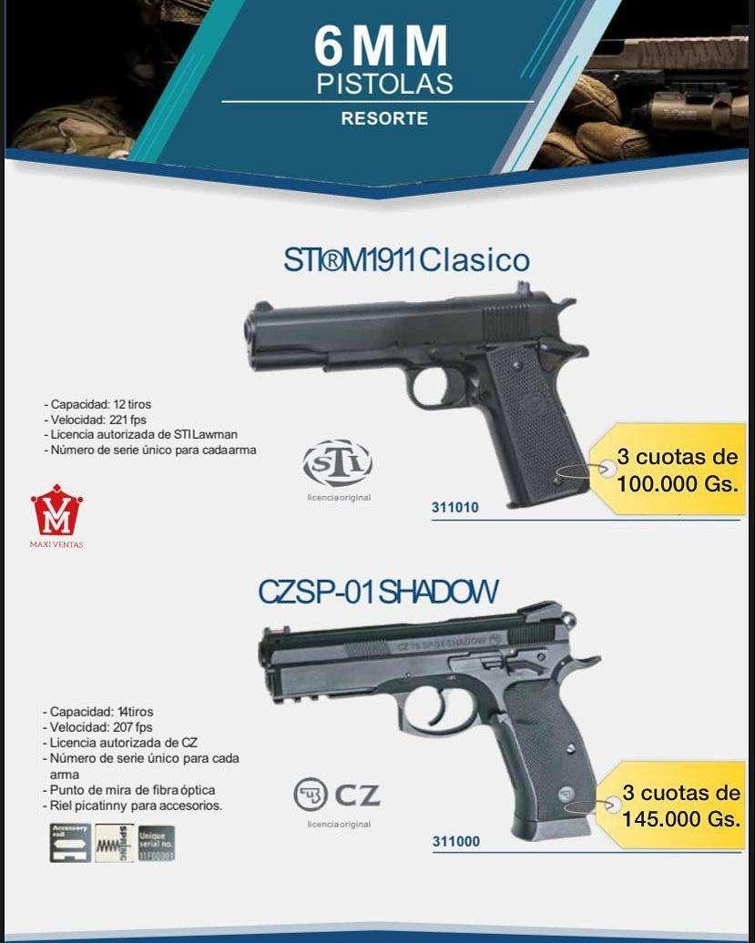 Pistolas airsoft 6mm a resorte - 0