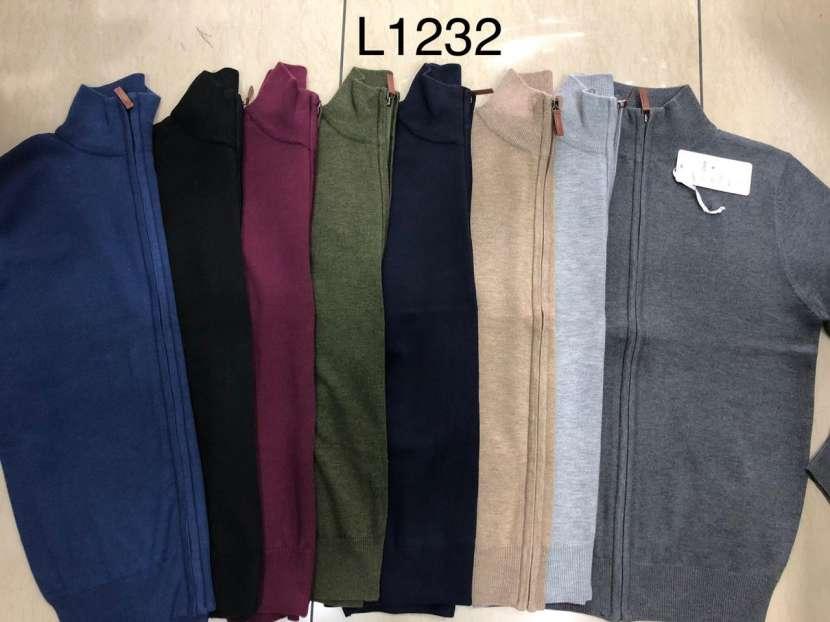 Suéter para hombre liso con cierre SINKEIL1232 - 0