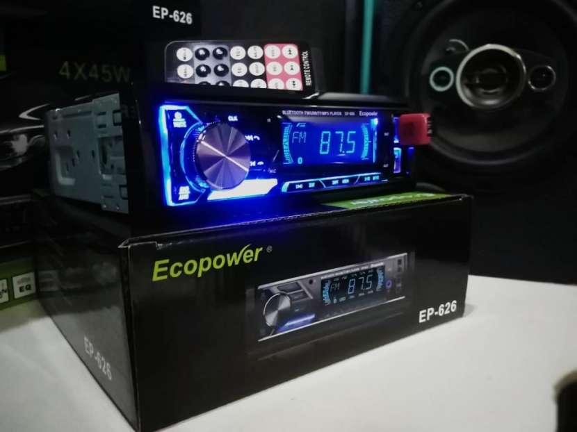 Autoradio ecopower con doble usb y bluetooth - 1