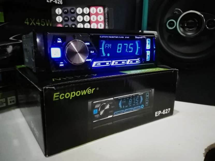 Autoradio ecopower con doble usb y bluetooth - 0
