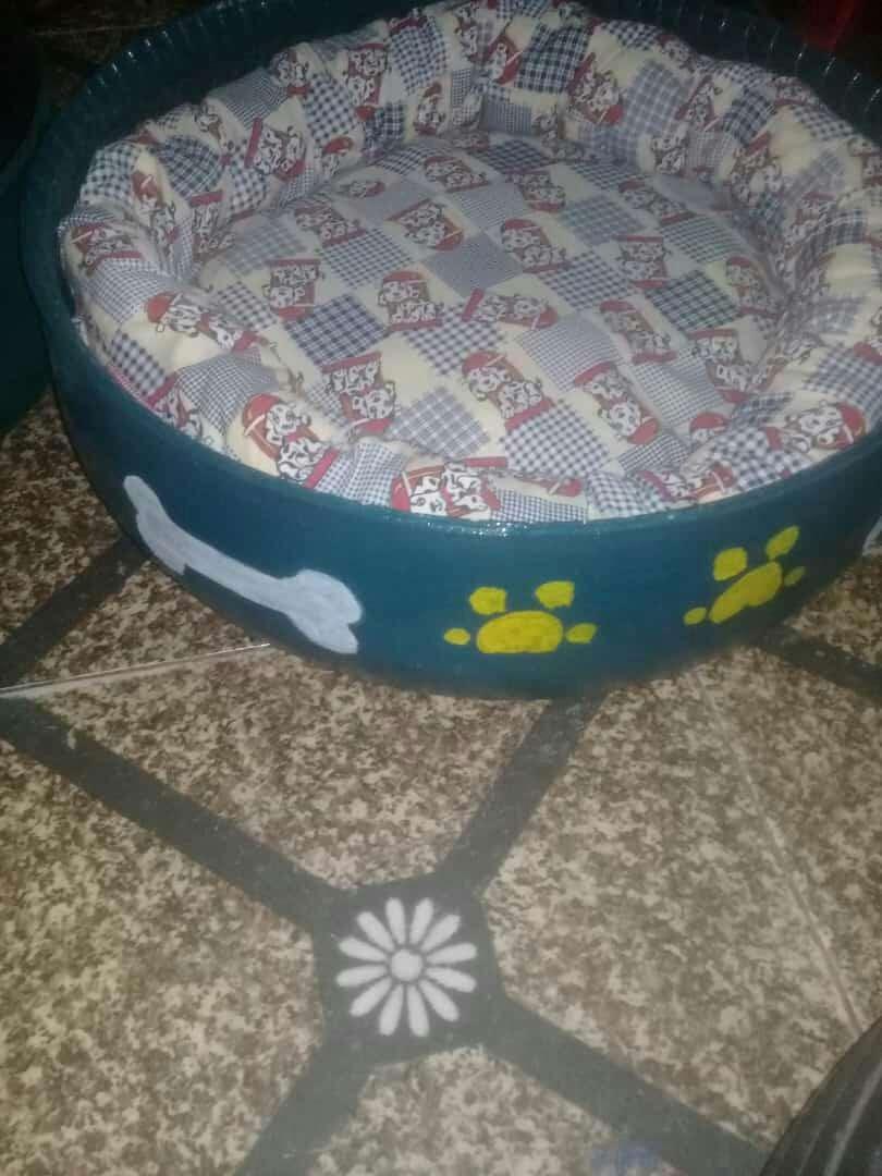 Cama para mascotas reciclada de cubierta - 7