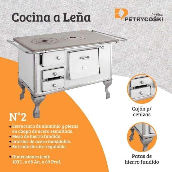 Cocina a leña N° 2 Petrycoski - 0