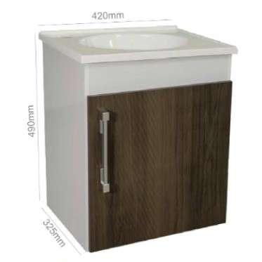 Mueble para baño lavatorio con espejo - 1
