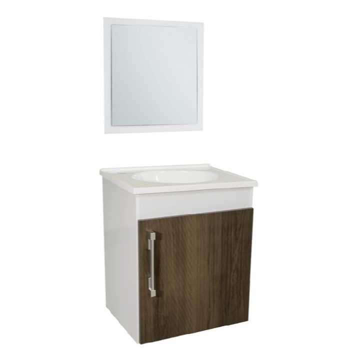 Mueble para baño lavatorio con espejo - 0