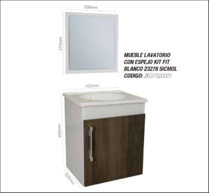 Mueble para baño lavatorio con espejo - 2