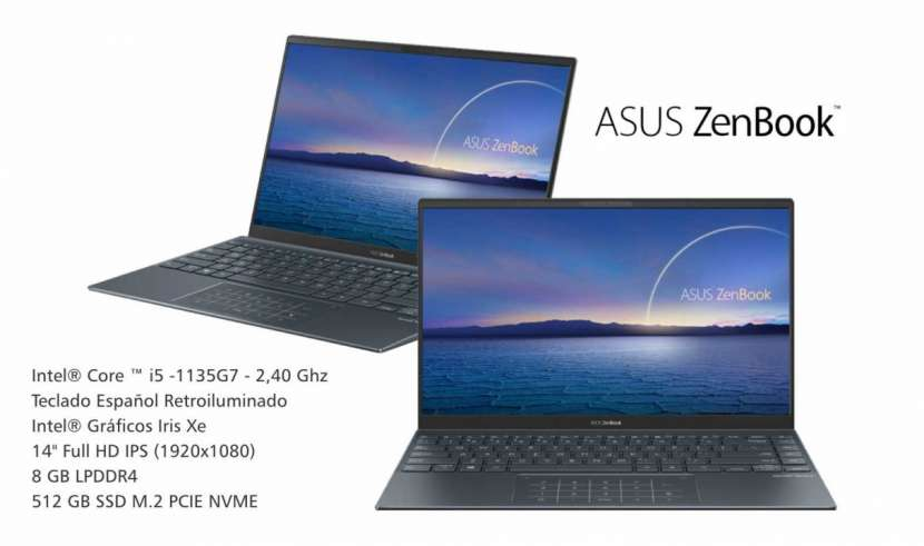 Notebook Asus Zenbook i5 Intel Graphics Iris Xe - 0