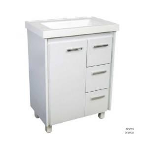 Mueble para baño lavatorio 1 puerta 3 cajones