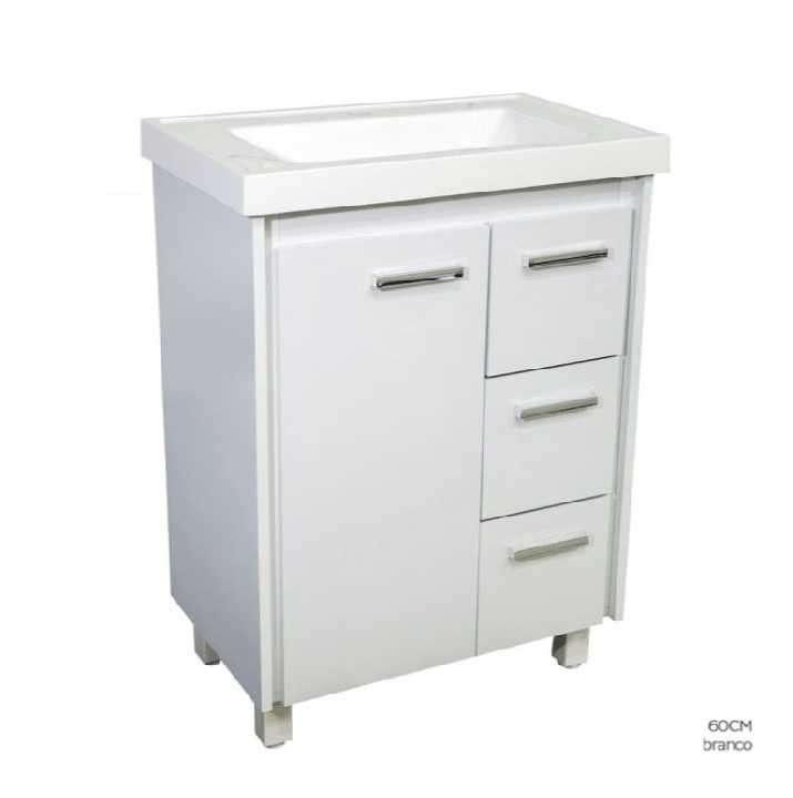 Mueble para baño lavatorio 1 puerta 3 cajones - 0
