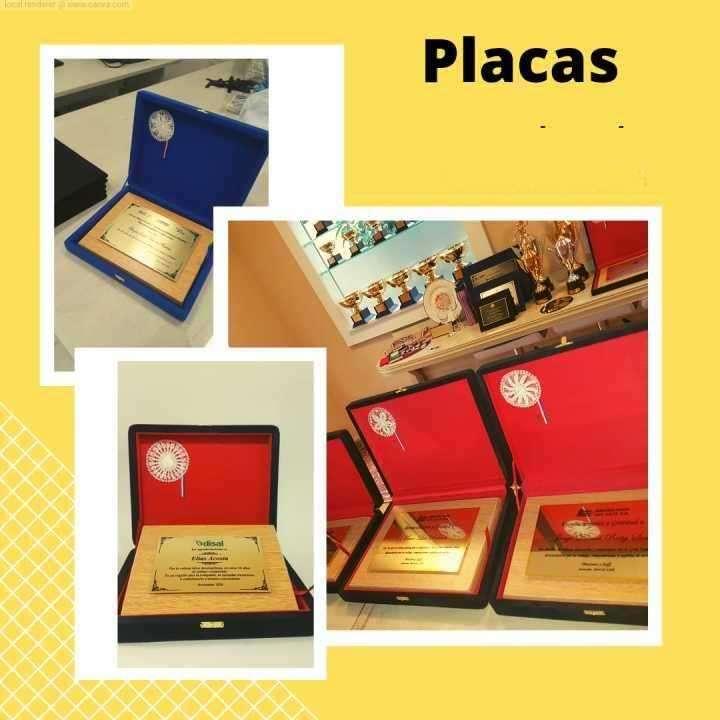 Placas recordatorias de reconocimiento en metal dorado USA - 0