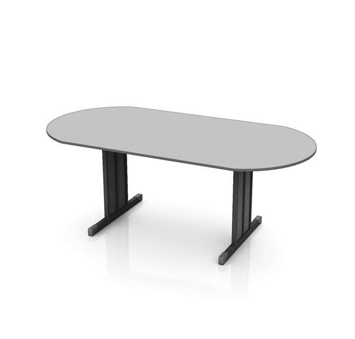 Mesa de reunión semi oval Movel (512) - 0