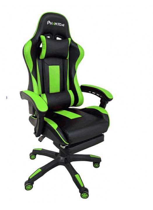 Silla gamer Phantom Empoli verde (HESX0038) - 0