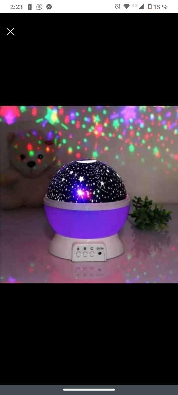 Lámpara proyector de estrella - 0