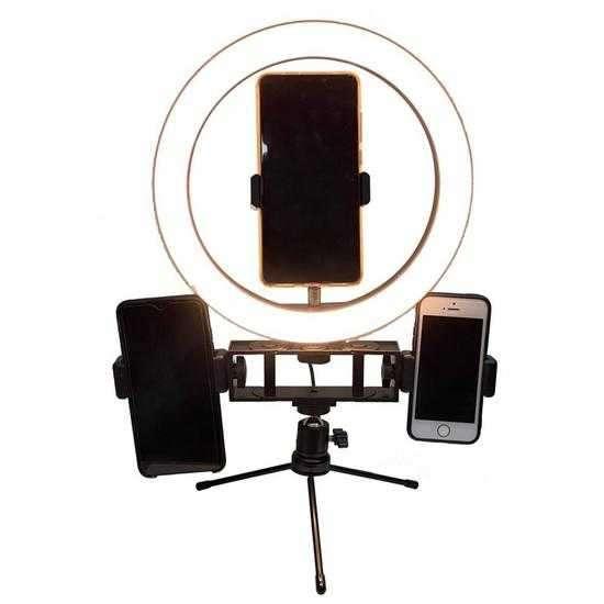 Lampara LED Anular Satellite A-MK10 com Tripe de Mesa / Aro - 0