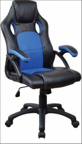 Silla gamer azul negro 100 Kg RGA