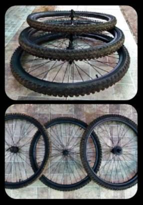 3 Cubiertas c/ Llantas para Bicicletas Aro 26