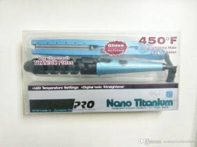 Planchita + rizador nano titanium