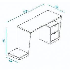 Mesa escritorio gamer negro (3868)