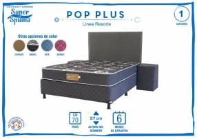 Sommier pop plus 1,40 x 1,90 soporta 70 kg Super Spuma