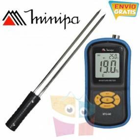 Medidor de temperatura y humedad de granos Minipa MTG-640
