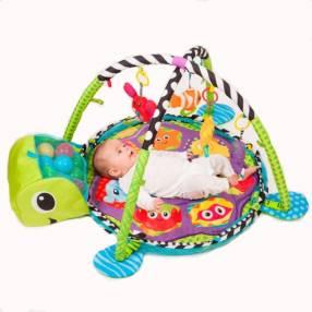 Gimnasio para bebé tortuga con pelotero