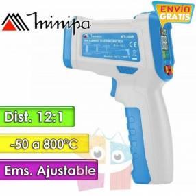 Termómetro Infrarrojo Minipa MT-350A 50 a +800°C