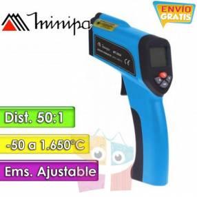 Termómetro Infrarrojo Minipa MT-395A 50 a +1.650°C