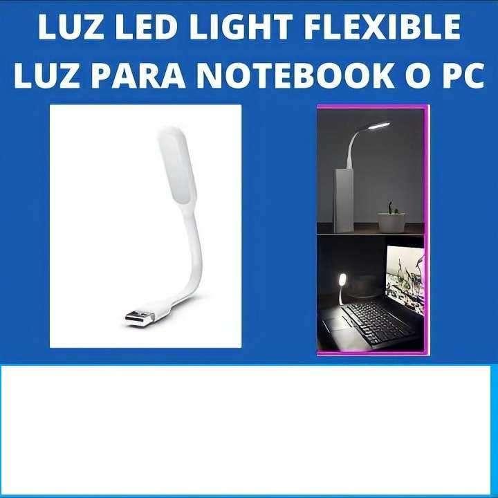 Luz led usb , maleable, 5v. Para cargadores o baterias porta - 0