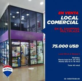 Local comercial en Shopping Multiplaza