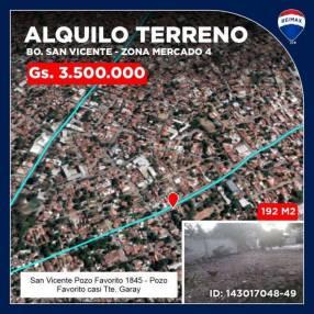 Alquilo Terreno zona Mercado 4
