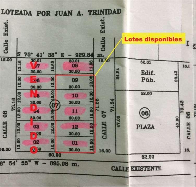 5 terrenos juntos en J. Augusto Saldivar a 30 mts del asfalto - 0