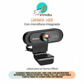 Cámara Web con micrófono integrado Full HD 1080p