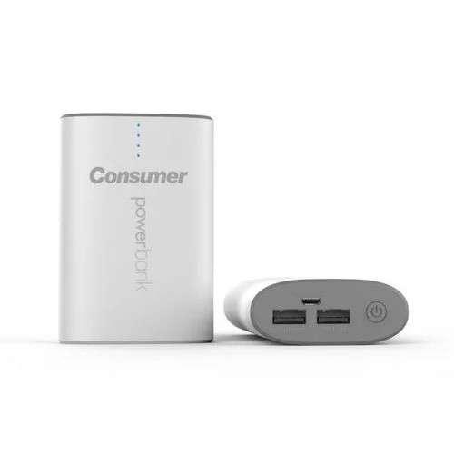 Cargador de batería portátil Consumer 12.000 mAh Blanco - 0