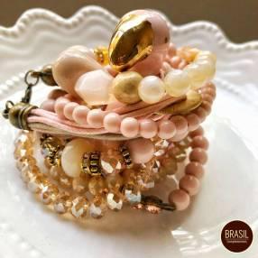 Mix de pulseras rose gold vintage