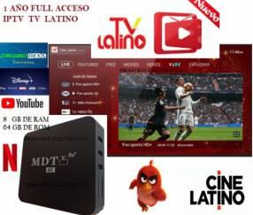 Tv box con tv latino