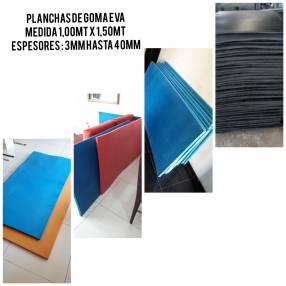 Planchas de goma Eva especial para gym, carrocerías, depósitos
