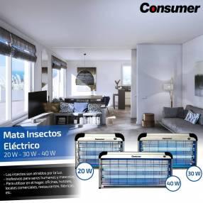 Mata insecto electrico 30watts consumer