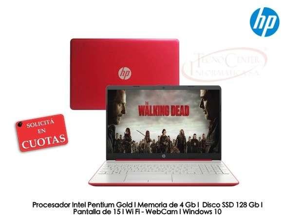 Notebook HP Red Intel Pentium Gold - 0
