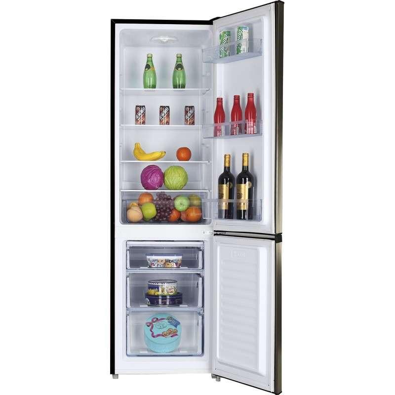 Heladera freezer Combi Consumer 350 litros doble puerta frío húmedo negro - 1