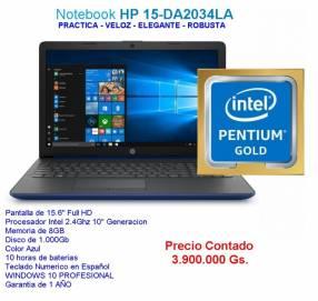 Notebook HP 15-DA2034LA Intel PENTIUM GOLD