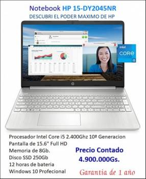 Notebook HP 15-DY2045NR Core i5