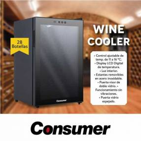 Enfriador de vino Consumer 28 botellas Winecooler